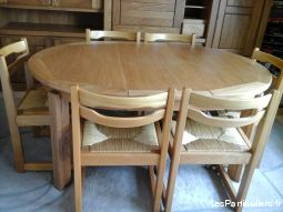 TABLE OVALE + 6 CHAISES