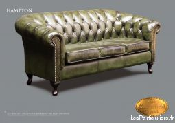 Chesterfield canapé 3 sieges Hampton Antique vert