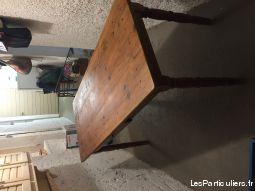 TABLE RECTANGULAIRE + 6 FAUTEUILS FER FORGE