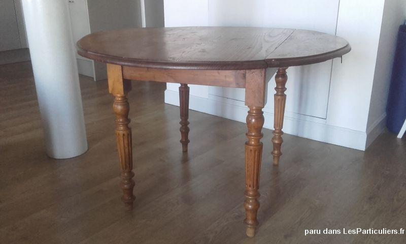 Table ronde en bois ancienne Maison et Jardin Gironde