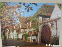 puzzle village 67 x 48 maison et jardin decoration landes