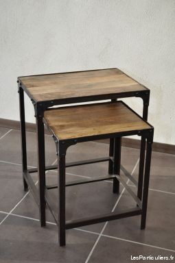 Tables basses gigognes style industrielles