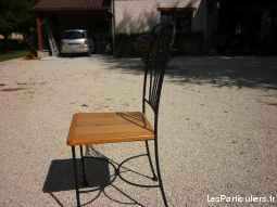 Lot de 8 chaises fer forg�