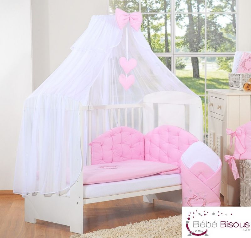ciel de lit bb rose et blanc maison et jardin alpes maritimes. Black Bedroom Furniture Sets. Home Design Ideas