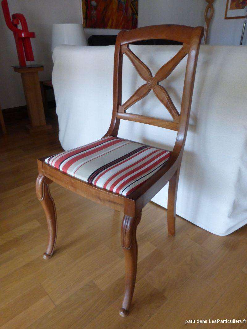 lot de 6 chaises style charles x noyer et tissu maison et jardin tarn et garonne. Black Bedroom Furniture Sets. Home Design Ideas