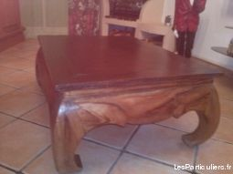 BAR D'ANGLE ET TABLE BASSE