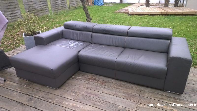 canape d 39 angle meridienne marron p u maison et jardin gironde. Black Bedroom Furniture Sets. Home Design Ideas