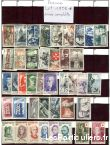 clos78 – timbres  france 1956*-1957*-1958*-1959* sport loisirs et culture collection yvelines