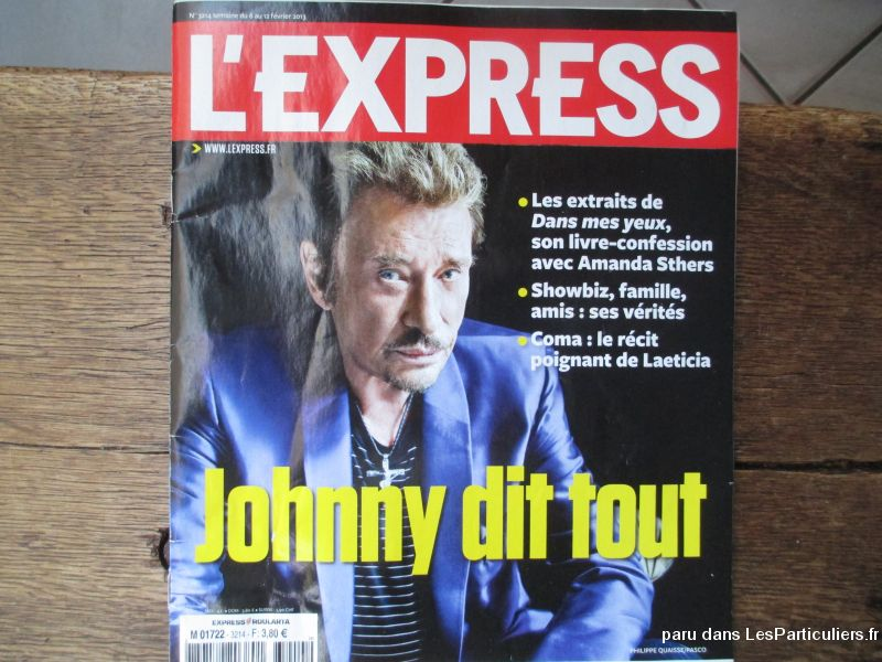 revue l'express collector johnny02 / 2013 sport loisirs et culture collection landes