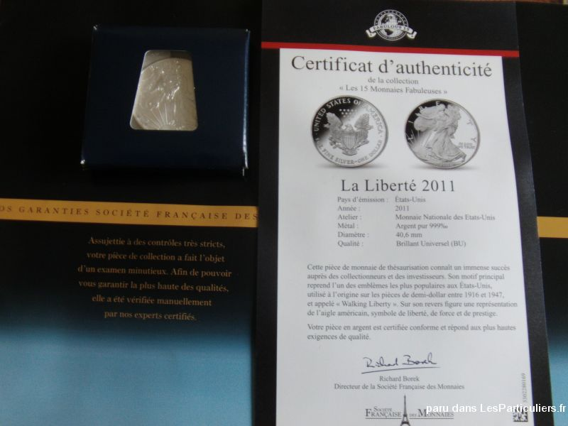 sylver eagle argent ann�e 2011 l�aigle am�ricain sport loisirs et culture collection seine-saint-denis