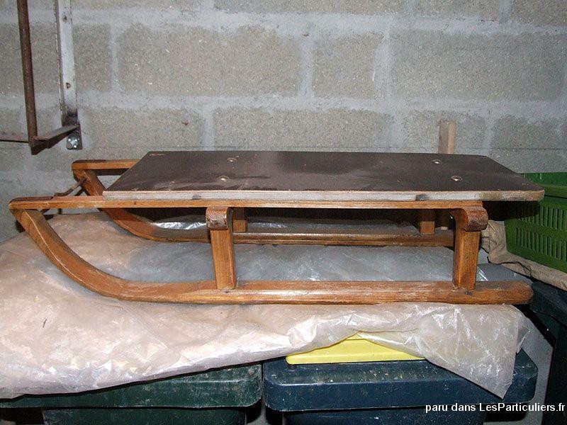 Luge En Bois Table Basse : luge ancienne en bois sport loisirs et culture materiel et accessoires