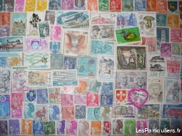 lot de 200 timbres diff�rents de france oblit�res sport loisirs et culture collection paris
