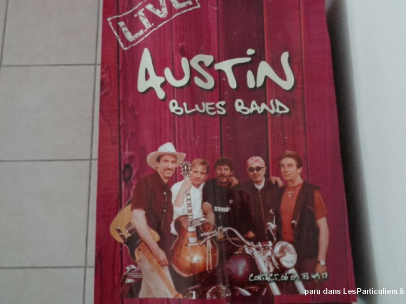 affiche groupe austin blues band sport loisirs et culture collection landes