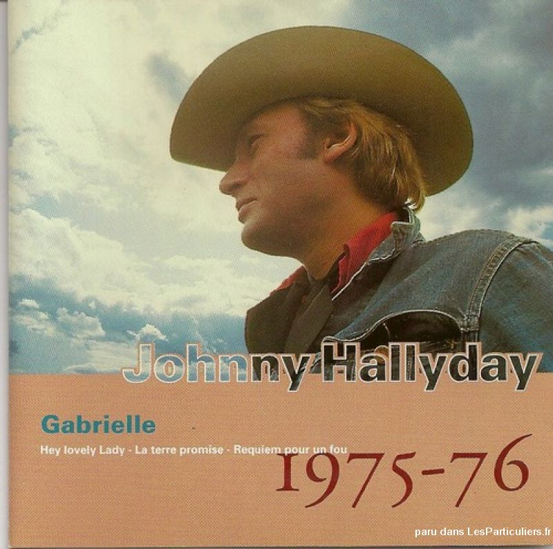 johnny hallyday gabrielle 1975-1976 sport loisirs et culture dvd cd livre yvelines