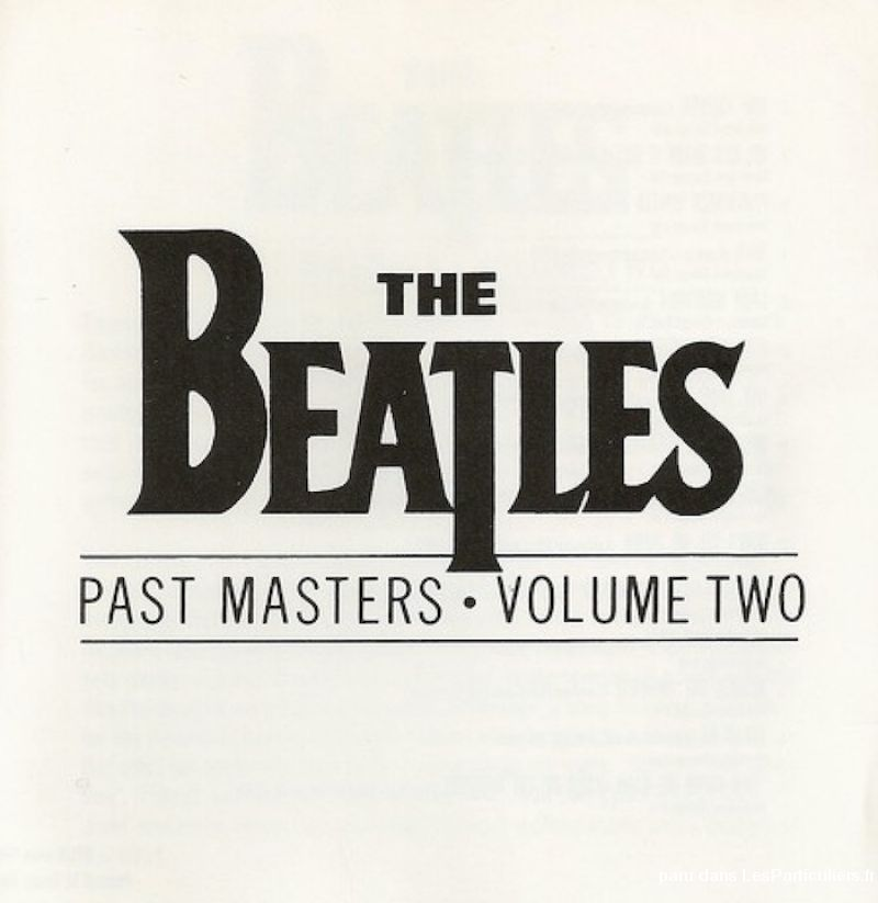 the beatles past masters volume two sport loisirs et culture dvd cd livre yvelines