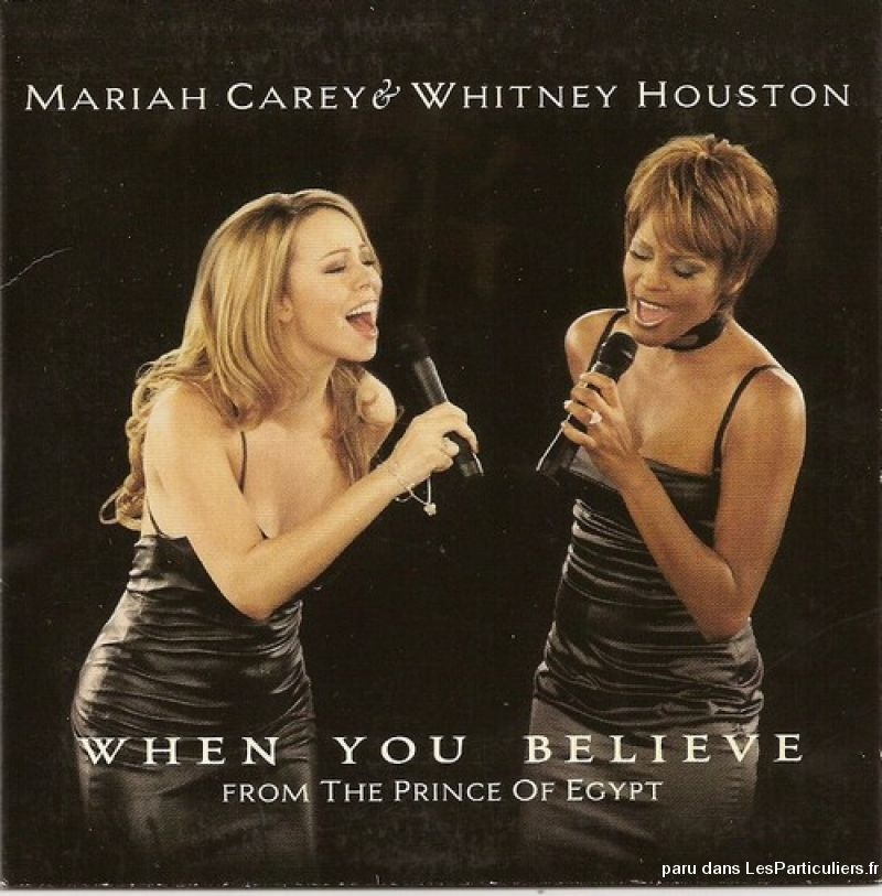 mariah carey & whitney houston when you believe sport loisirs et culture dvd cd livre yvelines