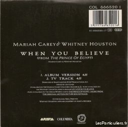 Mariah Carey & Whitney Houston When you believe