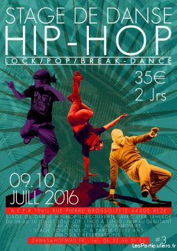 stage de danse hip-hop sport loisirs et culture evenement loire-atlantique