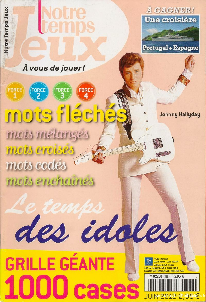 johnny hallyday notre temps n° 319 sport loisirs et culture dvd cd livre yvelines