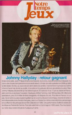 Johnny Hallyday Notre temps n° 319