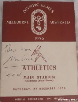 programe athletisme 1956 melbourne sport loisirs et culture collection paris