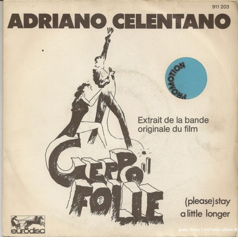 adriano celentano geppo /  (please) stay a little lon sport loisirs et culture dvd cd livre yvelines