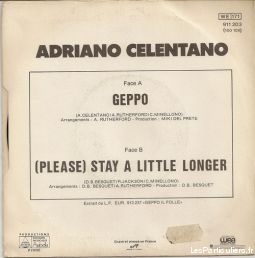 Adriano celentano Geppo /  (Please) Stay A Little Lon
