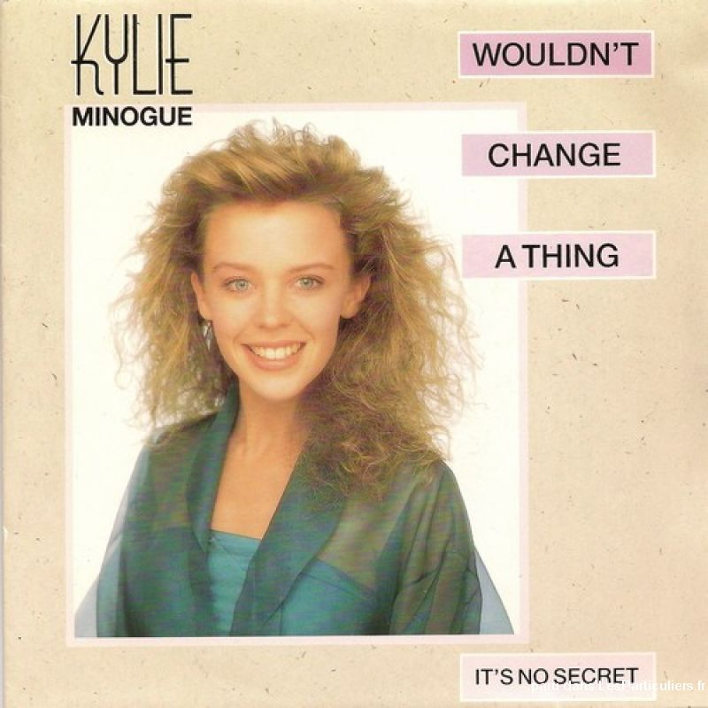 kylie minogue wouldn't change a thing sport loisirs et culture dvd cd livre yvelines
