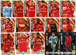 lot 16 cartes adrenalyn 2016 / 2017 equipe dijon sport loisirs et culture collection eure