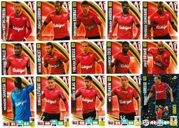 lot 15 cartes adrenalyn 2016 / 2017 equipe guingamp sport loisirs et culture collection eure