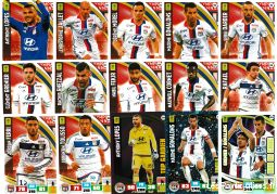 lot 15 cartes adrenalyn 2016 / 2017 equipe lyon sport loisirs et culture collection eure