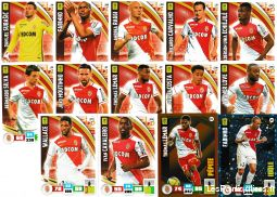 lot 14 cartes adrenalyn 2016 / 2017 equipe monaco sport loisirs et culture collection eure