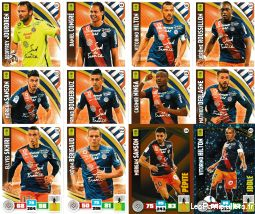 lot 12 cartes adrenalyn 2017 equipe montpellier sport loisirs et culture collection eure