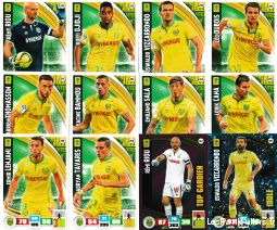 lot 12 cartes adrenalyn 2016 / 2017 equipe nantes sport loisirs et culture collection eure