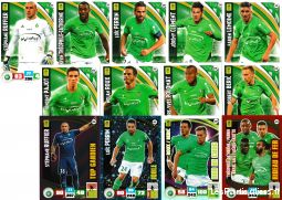 lot 13 cartes adrenalyn 2017 equipe st etienne sport loisirs et culture collection eure