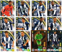 lot 12 cartes adrenalyn 2016 / 2017 equipe toulouse sport loisirs et culture collection eure