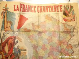 affiche la france chantante sport loisirs et culture collection indre-et-loire