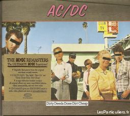 ac / dc dirty deeps done dirt cheap sport loisirs et culture dvd cd livre yvelines