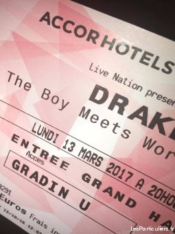 drake boy meets world tour sport loisirs et culture billetterie paris