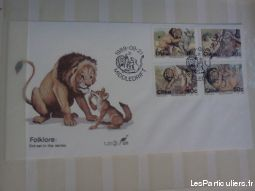 grosse collection de timbres theme felins sport loisirs et culture collection bas-rhin