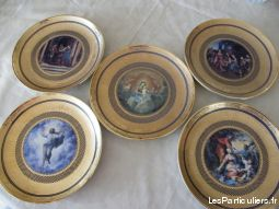 5 assiettes collection franklin mint vatican sport loisirs et culture collection nord