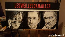 portrait peinture johnny hallyday sport loisirs et culture collection seine-saint-denis