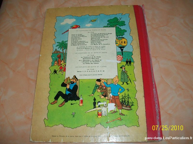 bd tintin ancienne édition sport loisirs et culture collection nord