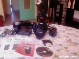 Canon eos 10D + grip + zoom 28-135 mm + flash550EX