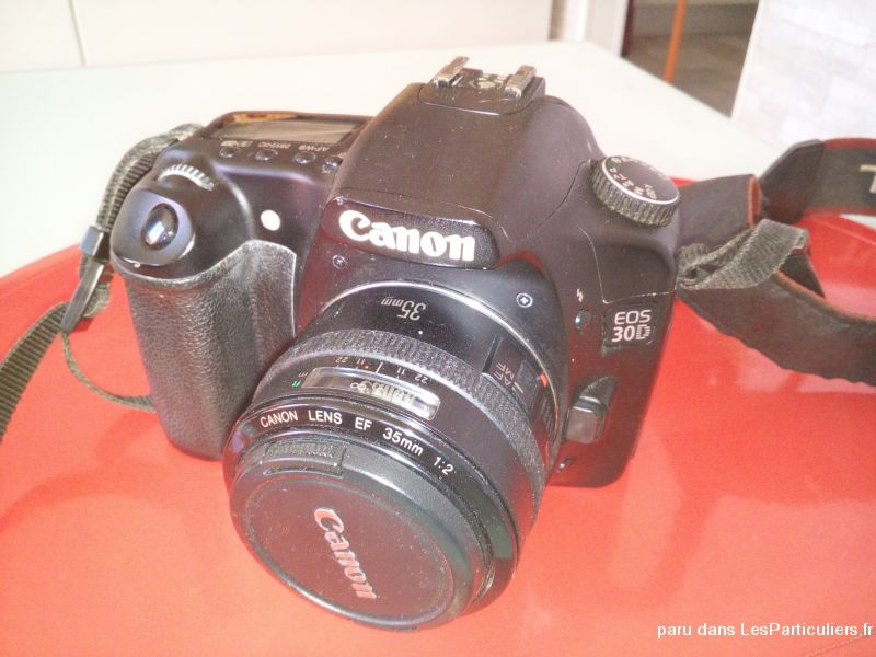 lot canon eos 30d + 3 objectifs high tech image son photo camescope alpes-maritimes