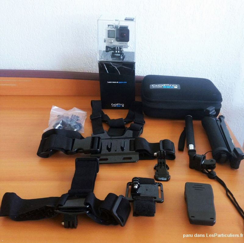 gopro hero4 silver + 64go sd extreme+ accessories high tech image son photo camescope bouches-du-rh�ne