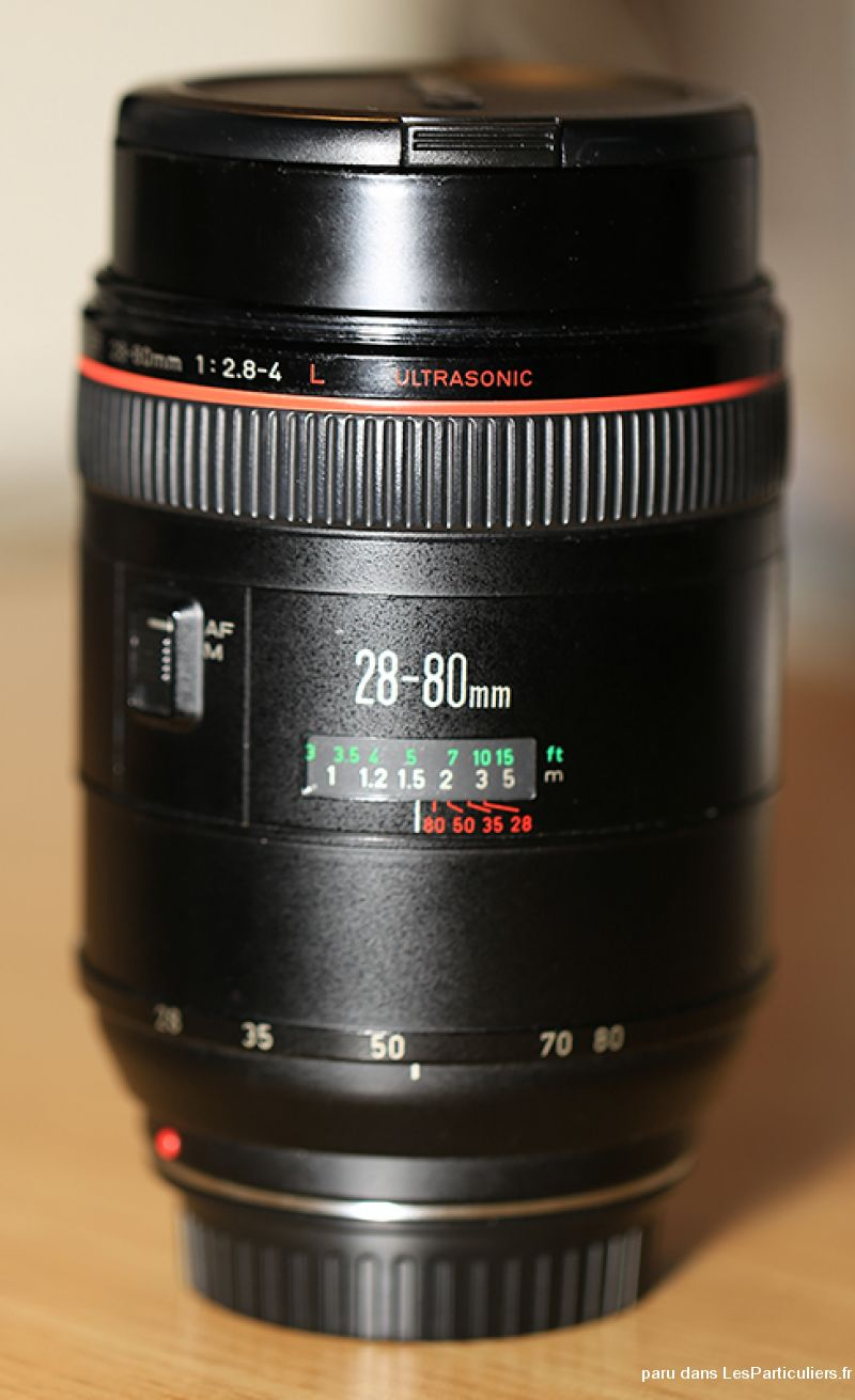 objectif canon ef 28-80 mm f2. 8-4 l high tech image son photo camescope isère