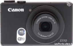 canon powershot s110 �cran tactile wi-fi etatneuf  high tech image son photo camescope c�tes-d'armor