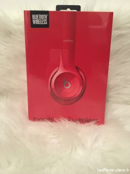 casque beats solo 2 wireless rouge neuf high tech image son hifi son val-de-marne