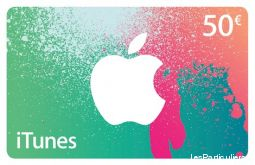 cartes itunes store 50€ low cost high tech image son telephonie val-de-marne